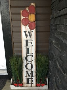 Love my new front entrance Welcome sign. My father-in-law's old wooden tool chest was just what I needed to complete this project.
