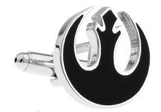 Mancuernillas logo negro Star Wars