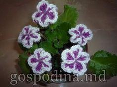 flori crosetate 3 d - dublu croset - YouTube