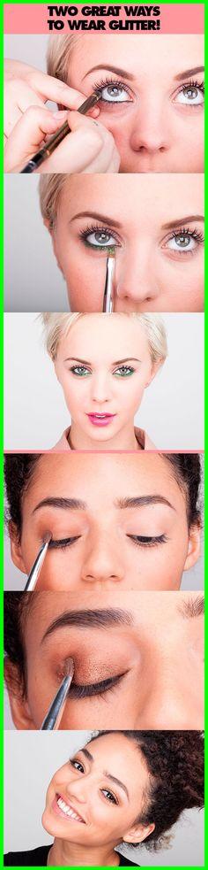 Two Great Ways To Wear Glitter!