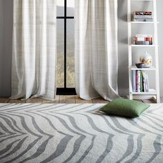 West Elm Safari Rug - This would be gorgeous in my dining room but I'm not sure if it would go with the Damask curtains