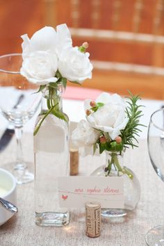 #centerpieces  Photography by blog.robinlin.com/  Wedding Coordination by asouthernsoiree.com    Read more - http://www.stylemepretty.com/2013/03/25/durham-wedding-from-robin-lin-photography-a-southern-soiree/