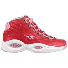 Reebok Question Mid - Girls' Grade School - Metallic Silver/Ultimate Purple/ White