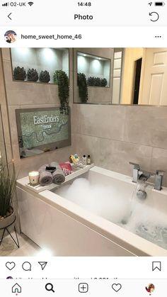 Bbc, Sweet Home, Corner Bathtub, New Homes, Home Decor, Solitude, Bathroom Ideas, Bathrooms, Houses