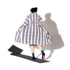 RESERVED for rakel - Swing Coat - 'Cedar Bluff' coat in Tweed Check on Etsy, Sold