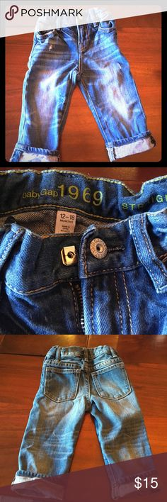 63e06a547 Shop Kids' GAP Blue size Jeans at a discounted price at Poshmark.  Description: Baby Gap distressed denim, never been worn.