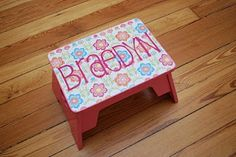 personalized step stool DIY