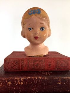 Vintage creepy  doll head by vintagewall on Etsy
