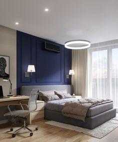 Schlafzimmer Len Design wand streichen ideen für schlafzimmer weißes bett graue wand