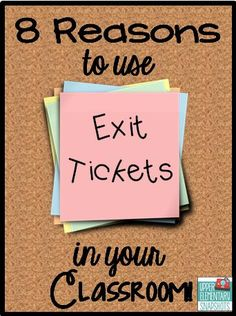 There are so many reasons why exit tickets are powerful classroom tools! This blog post lists how and why you should be using exit tickets in your classroom. It also includes FREE exit tickets and classroom examples!