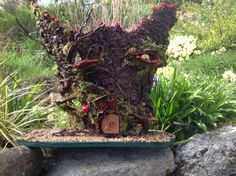 Fairy Homes, Wood Watch, Hiking Boots, Homemade, Heart, How To Make, Wooden Clock, Fairy Houses, Home Made