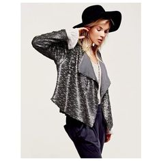 HP 12/1 Free People Sequined Party Jacket HOST PICK 12/1  condition: new with tags retail: $298 details: - dark grey, slate sequin jacket - polyester/spandex, some stretch - fit is great for a 10-14 since it is an open jacket - amazing quality, definitely a show stopper   offers welcome-please use offer link! bundle to save the most.  no trades. ask ?s. happy poshing! Free People Jackets & Coats