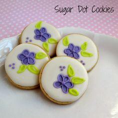 Sugar Dot Cookies: Flower Cookies