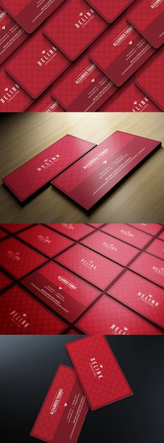 Modern Red Business Card - A great business card to make your clients stay in touch with you, and attract some new ones down the line. This stylish design will Premium Business Cards, Unique Business Cards, Business Card Design, Name Card Design, Banner Design, Vip Card, Corporate Style, Letterpress Business Cards, Calling Cards