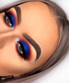 Brand new look using some gorgeous shades from @staceymariemua Carnival palette! The blue shade in this is amazing!!😍💙 ——————————————… Blue Eye Makeup, Eye Makeup Tips, Smokey Eye Makeup, Makeup Goals, Makeup Inspo, Makeup Hacks, Makeup Inspiration, Makeup Ideas, Makeup Products