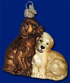 Puppy Love, Old World Christmas Glass Ornaments