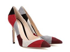 Gianvito Rossi Women's Multi-color Chamois Leather Pumps