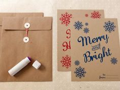 How to Make Gift Envelopes for Christmas : DIY Network. Set of 4 pictures and instructions.