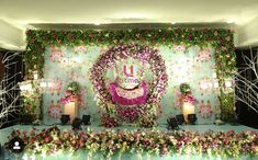 Birthday Event# Wedding Event# Cooperative Event# Sangeeth Event # Mehndhi Event# Photography and Videography Naming Ceremony Decoration, Reception Stage Decor, Wedding Stage Decorations, Backdrop Decorations, Marriage Decoration, Flower Decorations, Backdrops, Indian Wedding Receptions, Wedding Mandap