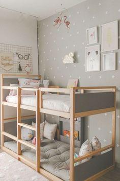 Kids Room Ideas For Girs Toddler Daughters Princess Bedrooms 52 Ideas For 2019 - Home Decor Bunk Beds Boys, Kid Beds, Ikea Bunk Bed, Loft Beds, Scandinavian Kids Rooms, Scandinavian Modern, Simple Bed, Shared Rooms, Kids Room Design