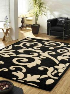 Black U0026 White Rug Modern Take On Traditional Pattern
