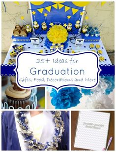 25+ ideas for graduation- crafts, food, decorations and more from LifeAfterLaundry.com.