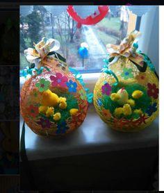 vajíčka z balonku a bavlnky
