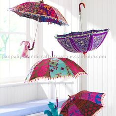 Decorative Umbrellas in tribal embroideries from India, View Umbrella, PANPALIYA Product Details from PANPALIYA HANDICRAFTS on Alibaba.com