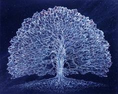 Celestial Tree, translation of dynamic energy visions, by Robert Venosa
