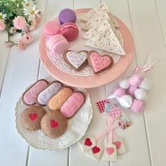 Baby Crafts, Felt Crafts, Sprinkles, White Marshmallows, Fairy Bread, Tea Party Setting, Felt Play Food, White Icing, Food Patterns
