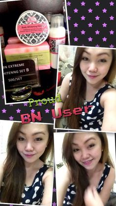 One of our pretty BN product users! :) shared photo included Set B inclusive of Extreme whiteing soap, Extreme whitening lotion and body whitening polish. :) Try it yourself too and see the best in you! :) Visit us now at https://www.facebook.com/BNwhiteningshoppe?hc_location=timeline