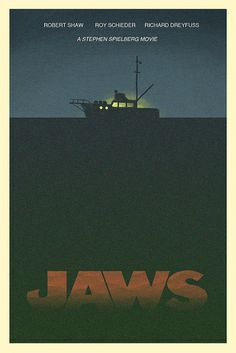 Sci Fi Movies, Scary Movies, Horror Movies, Good Movies, Horror Posters, Cinema Posters, Film Posters, Jaws Film, Jaws Movie Poster