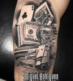 Tatuaje cartas de poker - Miguel Bohigues - Vtattoo