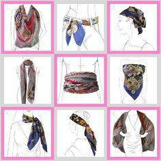 Pliage du foulard- I have this scarf.