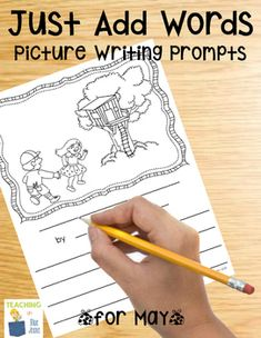 Picture Writing Prompts for May {Easy Writing Center Activity} Teaching The Alphabet, Teaching Language Arts, Teaching Writing, Writing Activities, Easy Writing, Work On Writing, Picture Writing Prompts, Kindergarten Social Studies, Kindergarten Science
