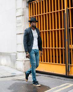 Style Inspiration by @stylishbyaccident : @create_often #stylishbyaccident #mensfashion #fashion #hat #rudeboy #madhatter #londonfashion #streetstyle #menstreetstyle #menswear #londonfashion #eastlondonstyle #fixuplooksharp #casual #blazer #jeans #trainers #mensfootwear #streetfashion #streetwear #paris #styleoftheday #stylepost