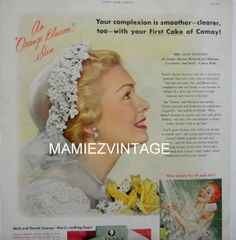 Pin Up  Bride Camay Soap Magazine Advertisment. by mamiezvintage, $12.00