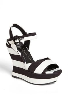 Alice + Olivia 'Jana' Wedge Sandal (Online Only) available at #Nordstrom