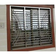 Stainless Steel Window Grills in Amritsar, स्टेनलेस स्टील विंडो ग्रिल्स, अमृत. Window Grill Design Modern, Balcony Grill Design, Grill Door Design, Door Gate Design, Railing Design, Window Design, Steel Grill Design, Steel Gate Design, Grill Gate