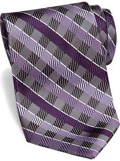 Mens - Platinum Designs Plum Mixed Stripe Washable Extra Long Tie - Men's Wearhouse Kevin's Tie? Wedding Tux, Wedding Ideas, Purple And Silver Wedding, Long Ties, Burgundy, Man Shop, Plum, Board, Design