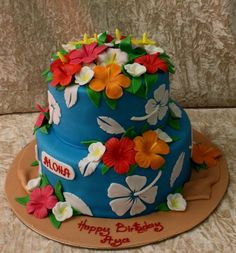 hawaiian cake themes | Hawaiian theme cake ― House of Cakes Dubai