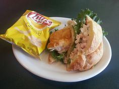 Seafood Salad on a croissant?  Yes please!