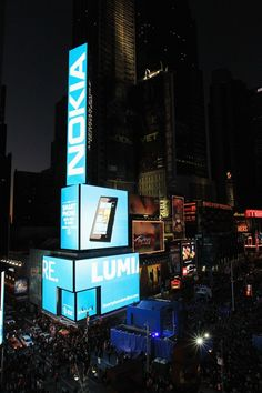 Nokia celebrated the Launch of the Nokia Lumia 900 in Times Square (with a special performance by Nicki Minaj).