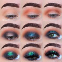 """1,544 Me gusta, 44 comentarios - Lily (@lilyywhite_) en Instagram: """"smokey eye with glitter! And it's this simple - using all @makeupgeekcosmetics eyeshadows (they…"""""""