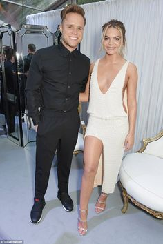 Old friends: Olly Murs (left) presented the X Factor series that Louisa went on to win Louisa Johnson, Olly Murs, Caroline Flack, Peplum Dress, Jumpsuit, Female, Celebrities, Clothes, Friends