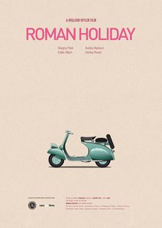 Roman Holiday, poster design inspired by another vital role in the movie.