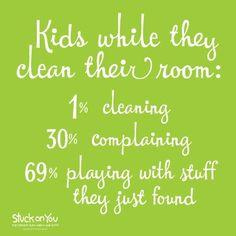 Kids cleaning? #StuckonYou