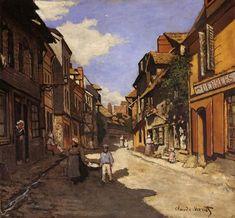 Le Rue de La Bavolle at Honfleur : Claude Oscar Monet : Museum Art Images Monet Paintings, Impressionist Paintings, Landscape Paintings, Scenery Paintings, Landscapes, Claude Monet, Pierre Auguste Renoir, Manet, Artist Monet