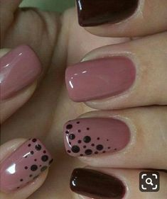Fabulous Pink and Blood Red Dotted Nail Art Designs .- Fabulous pink and blood red dotted nail art designs nail art - Creative Nail Designs, Creative Nails, Dot Nail Designs, Fingernail Designs, Solar Nail Designs, Cute Nail Art Designs, Simple Nail Designs, Gel Nagel Design, Dot Nail Art