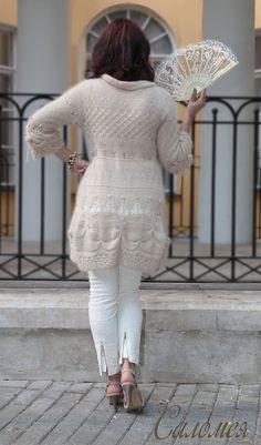 club.osinka.ru picture-8086152?p=13354487 Crochet Cardigan, Knit Crochet, Handmade Clothes, Vintage Patterns, Shawl, Peplum Dress, Knitting Patterns, Sweaters For Women, Lace